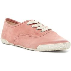 Frye Melanie Low Sneaker ($90) ❤ liked on Polyvore featuring shoes, sneakers, dusty rose, laced shoes, frye, low shoes, frye footwear and lacing sneakers