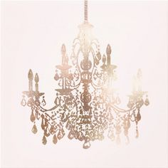 Beautiful vintage style rose-gold chandelier canvas print / romantic and modern home decor idea / livingroom wall decor / bedroom decor ideas Girls Chandelier, Rose Gold Chandelier, Chandelier Bedroom, Modern Bedroom Decor, Contemporary Home Decor, Bedroom Ideas, Bedroom Romantic, Bedroom Styles, Diy Bedroom