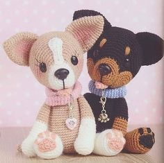 New knitting projects toys animal patterns Ideas Cute Crochet, Crochet For Kids, Crochet Toys, Crochet Baby, Crochet Dog Patterns, Amigurumi Patterns, Amigurumi Doll, Crochet Basics, Stuffed Animal Patterns