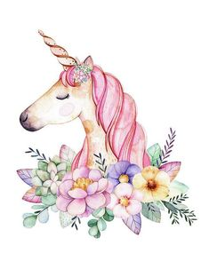 Magical Watercolor Unicorn art print by Lisa Spence. Our art prints are produced on acid-free papers using archival inks to guarantee that they last a lifetime without fading or loss of color. All art prints include a 1 Watercolor Unicorn, Unicorn Painting, Unicorn Art, Watercolor Art, Diy Painting, Unicorn Nails, Magical Unicorn, Art And Illustration, Videos Kawaii