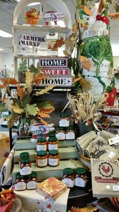 Harvest Table-McFarland Autumn Displays, Vintage Farmhouse, Rustic Chic, Shop Ideas, Harvest, Sweet Home, Table Settings, Table Decorations, Store