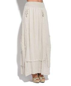 Beige Lucy Linen Skirt