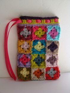Peças encontradas na net em square de crochê.