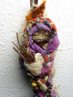 Serenity Garden Angel   Assemblage Spirit Art Doll by awesomeart.