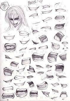 bocas Art: Learn to Draw   Manga   Sketches   Cartoon - Jonathan Alonso Webpage : www.thejonathanalonso.com #mangaboy #mangart #cartoondrawing #illustrator #sketchaday #JonathanAlonso