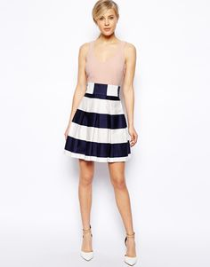 f9d398dc2f ASOS Stripe Skirt Skater dress Skater Skirt Dress