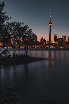 That Evening Glow - View of Toronto Skyline from Toronto Island Toronto Photography, Street Photography, Landscape Photography, Nature Photography, Travel Photography, Toronto Skyline, Toronto City, City Aesthetic, Travel Aesthetic