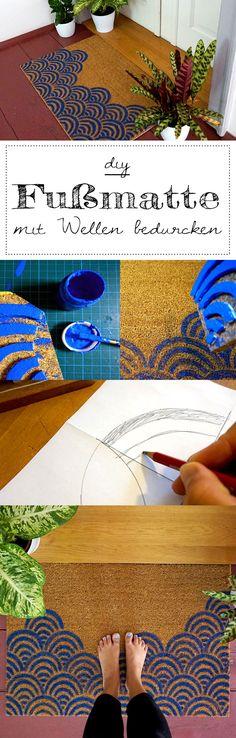 Gestalte deine individuelle DIY Fußmatte mit Wellen. Perfekt als Geschenk oder DIY Deko in deinem Zuhause!