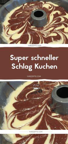 Super schneller Schlag Kuchen - 1k Rezepte