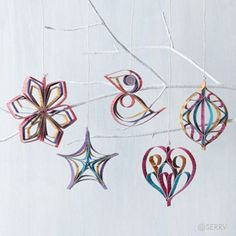 Ornaments - Beautiful Handmade Folded Paper Ornament Set | SERRV.  Very Scandinavian!