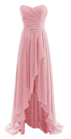 *Maillsa Women Long High Low Sweetheart Formal Evening Gowns,GD1
