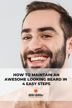 OK, so you've grown the beard you've always dreamed of and perhaps even paired it with a great-looking mustache. Other men are impressed and life is good. But, it doesn't end there. The following is a complete guide to how to maintain a beard. We break it down for you while providing the fundamentals of combing, brushing, washing, styling your beard, and more. Time to get serious, men. Vitamins For Beard Growth, How To Trim Mustache, Beard Growth Kit, Beard Maintenance, Best Beard Oil, Handsome Bearded Men, Natural Beard Oil, Beard Grooming, Beard Tattoo