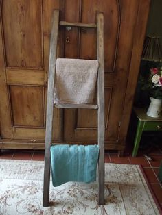 reclaimed wooden towel ladder by woods vintage home interiors | notonthehighstreet.com
