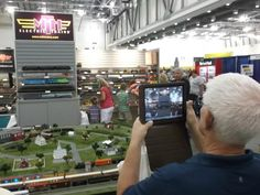 The M.T.H. booth at the 2012 National Train Show. This photo is from our friends at Railroad Model Craftsman Magazine.