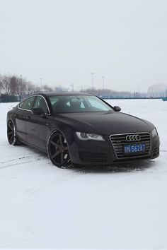 Audi A7 on black Vossen wheels