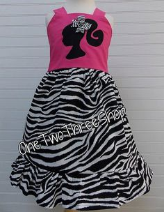 Custom Boutique Clothing  Barbie  Sassy Girl Dress by amacim, $35.00