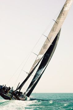 Favorite part of sailing is when the boat leans so far to one side you just sit there and let your hand glide in the water. Volvo Ocean Race, State Of Grace, Yacht Boat, Sail Away, Set Sail, World Trade Center, Tall Ships, Catamaran, Sailing Ships