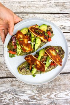 #healthy #yummy #nopalitos #halloumi #beanhummus #easy