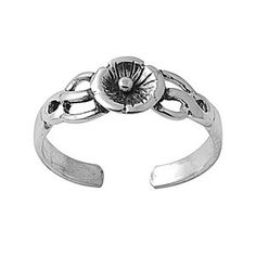 Silver Plumeria Mid Finger / Knuckle Ring
