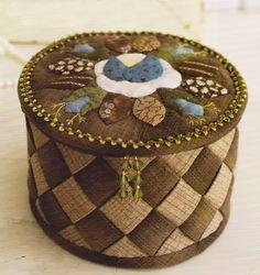 Sewing keepsake jewelry box case Pdf Pattern Quilt by dickdocker