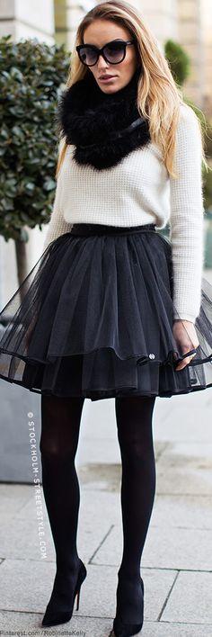Tulle Skirt   Street Style