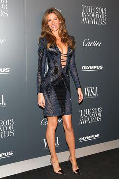 Gisele Bündchen's Going-Out Dress Trumps All Others  Love the dress design and color!