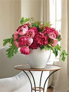 Fuchsia Pink and Green Flower Arrangement