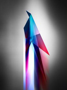 BIrd Futurist Origami Digital Art Poster  signed by barrettbiggers, $25.00