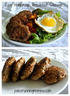 Easy Homemade Breakfast Sausage made with just organic pork and the perfect savory spice blend - paleo and friendly. Homemade Sausage Recipes, Homemade Breakfast Sausage, Pork Recipes, Paleo Recipes, Cooking Recipes, Whole 30 Breakfast, Paleo Breakfast, Breakfast Recipes, Whole30 Breakfast Sausage
