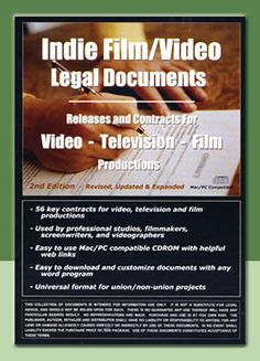Indi Film/Video Legal Documents - CD-ROM cover