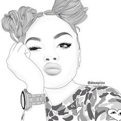 art, noir, dessiné, sourcils, yeux, cheveux, instagram, lèvres, maquillage, top, regarder, blanc