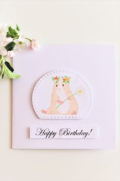 Crafts for fun and special occasions by TFcraft Pig Birthday, Birthday Cards, Happy Birthday, Birthday Parties, Cute Guinea Pigs, Special Occasion, Etsy Seller, Greeting Cards, Paper Crafts
