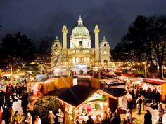 Karlsplatz Christkindlmarkt in Vienna, Austria