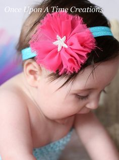 Under The Sea Starfish Headband  Newborn by OnceUponATimeTuTus, $5.99