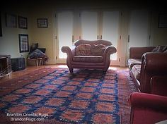 """(BrandonRugs.com) Look what a commitment to #quality choices (like REAL hand-knotted #orientalrugs ) can do for your home. Our customer in #newhopepa made a value decision to dress her naked #livingroom #floor with an exceptional, distinctive, enduring oriental #rug. This is an Afghan Turkoman #tribal #rug. """"Real rugs bring pride to every room."""" (tm)"""