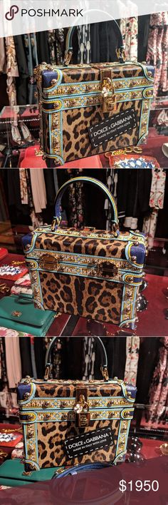 13e41f738e Dolce & Gabbana Leopard and Maiolica print Box Bag Exclusive box bag from  D&G runway,