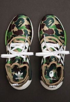 BAPE x adidas NMD drop on November Definitely a cop via Me Too Shoes, Men's Shoes, Shoes Sneakers, Sneakers Fashion, Fashion Shoes, Mens Fashion, Tenis Nmd, Adidas Originals, Supreme Clothing