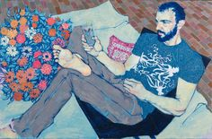 New York artist Hope Gangloff works predominantly with pen and ink on paper, using reference photographs she takes of her friends. Description from interiorzine.com. I searched for this on bing.com/images