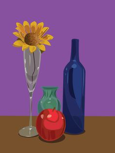 Mastering the Digital Still Life | I was impressed with how quickly students mastered the pen tool -- this assignment gave them a lot of helpful practice with it. #HighSchool #ArtLesson #ArtEd #ArtEducation #StudentArt #Digital #StillLife