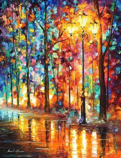 Lantern — ORIGINAL Palette Knife Oil Painting on Canvas by AfremovArtStudio, $1150.00