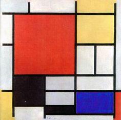 Piet Mondrian: Jedna z jeho variací; tato konkrétně z roku 1921