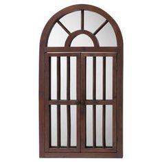 Window Mirror, Window Wall, Wall Mirror, Wood Windows, Arched Windows, Craftsman Mirrors, Frames On Wall, Wooden Frames, Framed Wall