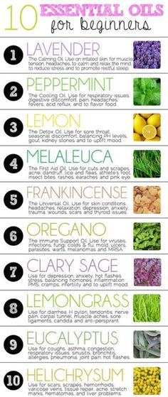 10 Essential Oils for Beginners