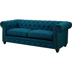 Ordinaire Furniture Of America Nyssa Traditional Sofa, Multiple Colors, Blue