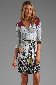 NWT DIANE VON FURSTENBERG JULIAN TWO PAISLEY WRAP DRESS SZ 0 #DianevonFurstenberg #WrapDress $189 on ebay