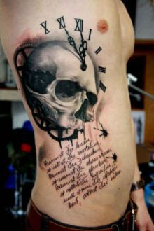 Tattoo Skull with the dial and the font