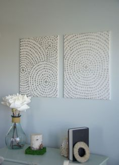 Hi everyone, Emily here to share a great way to add some wall art to your home. Of course I am going to share a simple and cheap way to add wall art. Of co