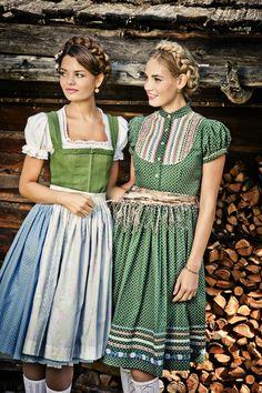 Grün und hellblau sind die Farben dieses Sommers! Lena Hoschek Tradition 2014