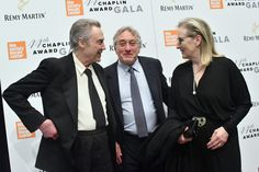 Meryl Streep Photos Photos - (EXCLUSIVE COVERAGE)  (L-R) Christopher Walken, Robert De Niro and Meryl Streep backstage during the 44th Chaplin Award Gala at David H. Koch Theater at Lincoln Center on May 8, 2017 in New York City. - 44th Chaplin Award Gala - Backstage