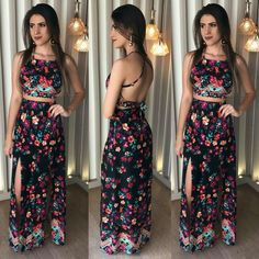 Processed with vsco with preset vestidos havaiano, vestidos de noiva de Romper With Skirt, Dress Skirt, Funky Outfits, Cute Outfits, Fiesta Outfit, Beautiful Long Dresses, Tumblr Outfits, Two Piece Outfit, Feminine Style